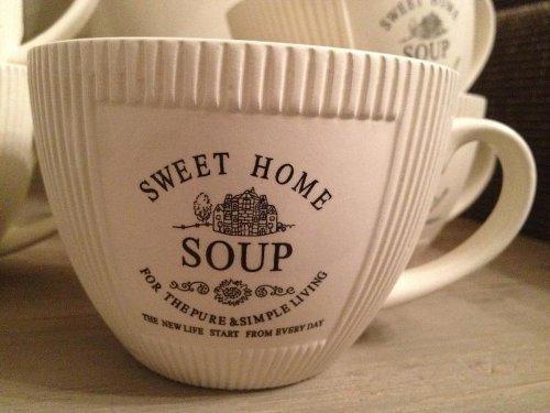 6 x Vintage Landhaus Suppentasse Suppenschüssel Schüssel Antik Shabby Chic