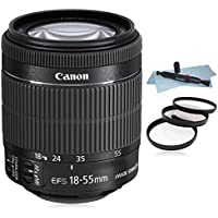 Canon EF-S 18-55mm f/3.5-5.6 IS STM Lens (White Box) for Canon EOS SLR Cameras 7D II, 7D, 70D, 60D, 50D,... T6i, T5i, T6, T5, 1200D, T3i, T4i, SL1, 700D, 760D 750D, 650D, 600D.....+ AUD Essential Accessory Bundle