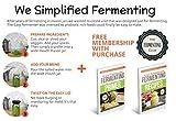 Easy Fermenter Wide Mouth Lid Kit: 4 Lids Refill