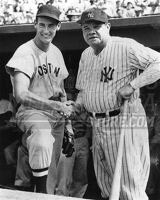 Ted Williams Babe Ruth Boston Red Sox Yankees dugout 8x10 11x14 16x20 photo 038 - Size 8x10
