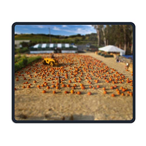Mouse Pads with Design,with Stitched Edges,Holiday Halloween Tilt Shift Non Slip Rubber Mouse Mat ()