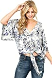 Love Stitch Women's Light Rayon Floral Blouse (S, Vanilla Light)