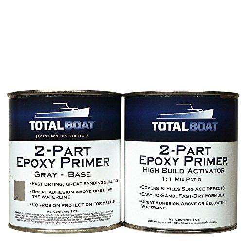 Epoxy Thinner - TotalBoat 2-Part Marine Epoxy Primer (White High Build Primer Kit, Quart)