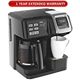 Hamilton Beach FlexBrew 2-Way Brewer Programmable Coffee Maker (49976) with Extended Warranty