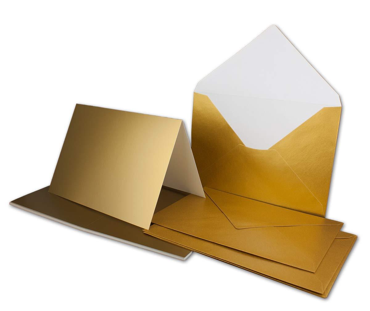 75 Sets - Faltkarten Hellgrau - Din A5  Umschläge Din C5 - Premium Qualität - Sehr formstabil - Qualitätsmarke  NEUSER FarbenFroh B07Q4NXMW8 | Tadellos