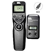 PIXEL TW-283/DC2 LCD Wireless Shutter Release Timer Remote Control for Nikon D3100, D3200, D3300, D5000, D5100, D5200, D5300, D5500, D5600, D90, D7000, D7100, D600, D610, D750, DF