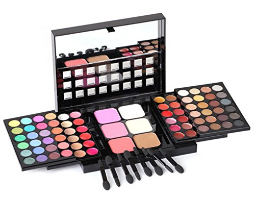 FantasyDay Pro Makeup Gift Set All in One Makeup Kit Cosmetic Contouring Kit 78 Colors Eyeshadow Palette with Face Blush, Lipgloss, Concealer and Eyeshadow Brushes- Ideal Holiday Gift Set (Sleek Face Form Contouring And Blush Palette)