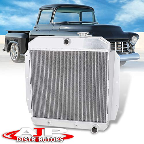 AJP Distributors TRI-CORE/ROW Full Aluminum High Performance Engine Cooling Racing Radiator For 1955 1956 1957 1958 1959 Chevy GMC C/K Series 100/150 L6/V8 55 56 57 58 59 Upgrade Replacement