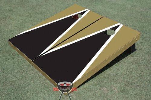 ブラックandダークゴールドMatching三角形Corn穴ボードCornhole Game Game Set B00CMDK418 Set B00CMDK418, ブランドショップ AXES:e429cd90 --- gamenavi.club