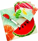 Manual 6-Piece Cheeseboard/Plates Gift Set, Summer Fruit