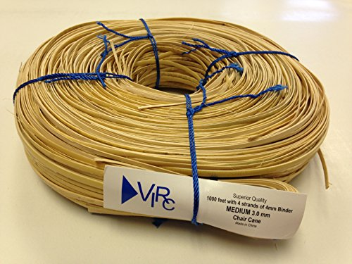 (Chair Cane Medium 3mm 1000 ft coil with 4 strands of 4mm Binder Cane)