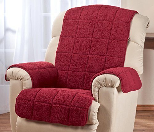 OakRidge Comforts Waterproof Quilted Sherpa Recliner Cove...