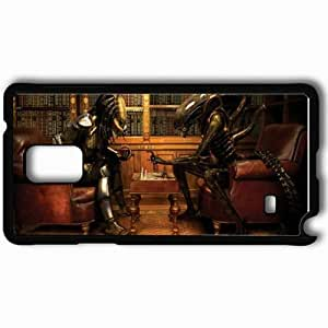 Personalized Samsung Note 4 Cell phone Case/Cover Skin Alienvspredator movies Black