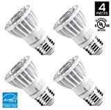 Hyperikon PAR16 LED Bulb, 8W (50W Equivalent 540 lumen, 4000K (Daylight Glow) CRI90+, Spot Light Bulb, Medium Base (E26), Dimmable, UL & ENERGY STAR - Great for Kitchen, Basement, Outside (4 Pack)