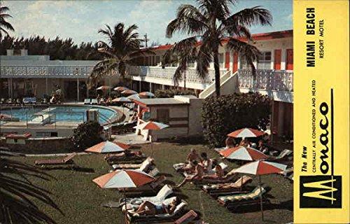 (Monaco Resort Motel Miami Beach, Florida Original Vintage Postcard)
