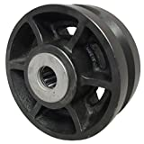 RWM Casters VIR-0625-12 6-Inch Diameter X 2-1/2-Inch Width Cast Iron V-Groove Wheel with Straight Roller Bearing, 2500-Pounds Capacity