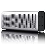 BRAVEN 710 Portable Wireless Bluetooth Speaker [12 Hours][Water Resistant] Built-In 1400 mAh Power Bank Charger - Silver