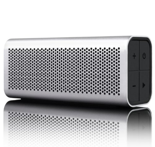 BRAVEN 710 Portable Wireless Bluetooth Speaker [12 Hours][Water Resistant] Built-In 1400 mAh Power Bank Charger - Silver by Braven