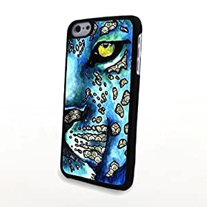 linJUN FENGGeneric PC Phone Cases Compatible with ipod touch 5 Creative ipod touch 5 Skin Leopard Blue Tone Hard Case Matte Cover - Oil Painting Design