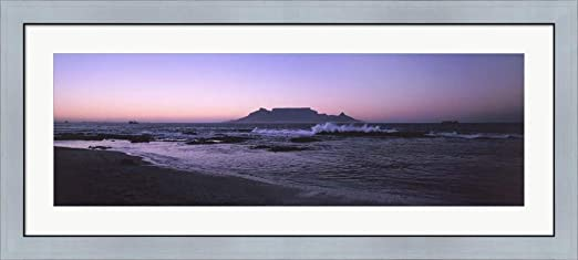Cape Town Sunset Africa Framed PANORAMA CANVAS PRINT Wall Art
