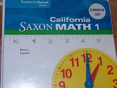 california saxon math 1 teacher s manual volume 1 nancy larson rh amazon com Wordle Science Teachers Teacher Outlook