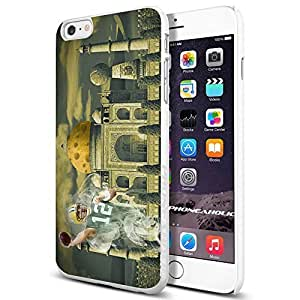 NFL Green Bay Packers Aaron Rodgers, Cool iphone 5c (+ , Inch) Smartphone Case Cover Collector iphone TPU Rubber Case White