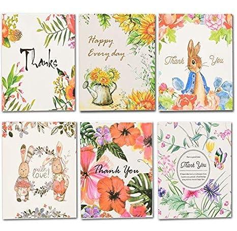 Amazon.com: coland tarjetas de agradecimiento notas de ...