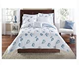 Seashells, Beach Themed, Nautical Queen Comforter Set (8 Piece Bed In A Bag)