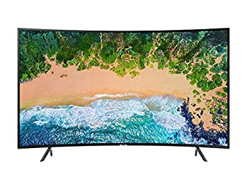 Samsung UN65NU7300FXZC Curved 65' 4K Ultra HD Smart LED TV (2018), Charcoal Black [CA Version] Samsung Home Entertainment
