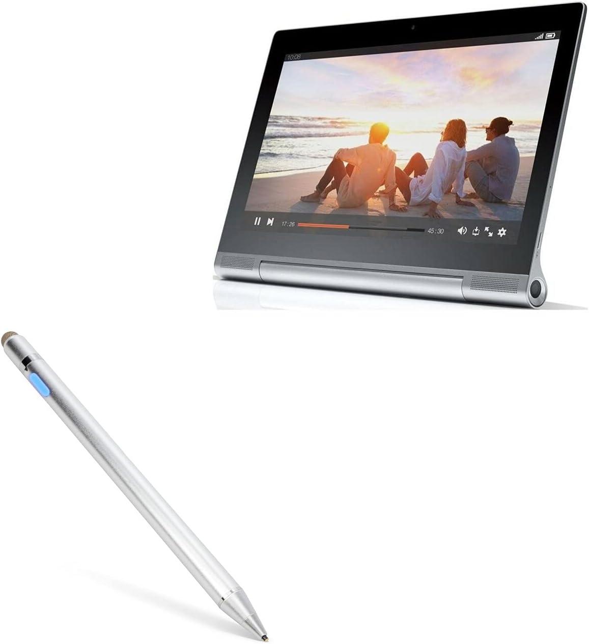 Stylus Pen for Lenovo Yoga Tablet 2 Pro (Stylus Pen by BoxWave) - AccuPoint Active Stylus, Electronic Stylus with Ultra Fine Tip for Lenovo Yoga Tablet 2 Pro - Metallic Silver