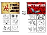Tattoo Flash Art Books Stars Sun Moon and Butterflies