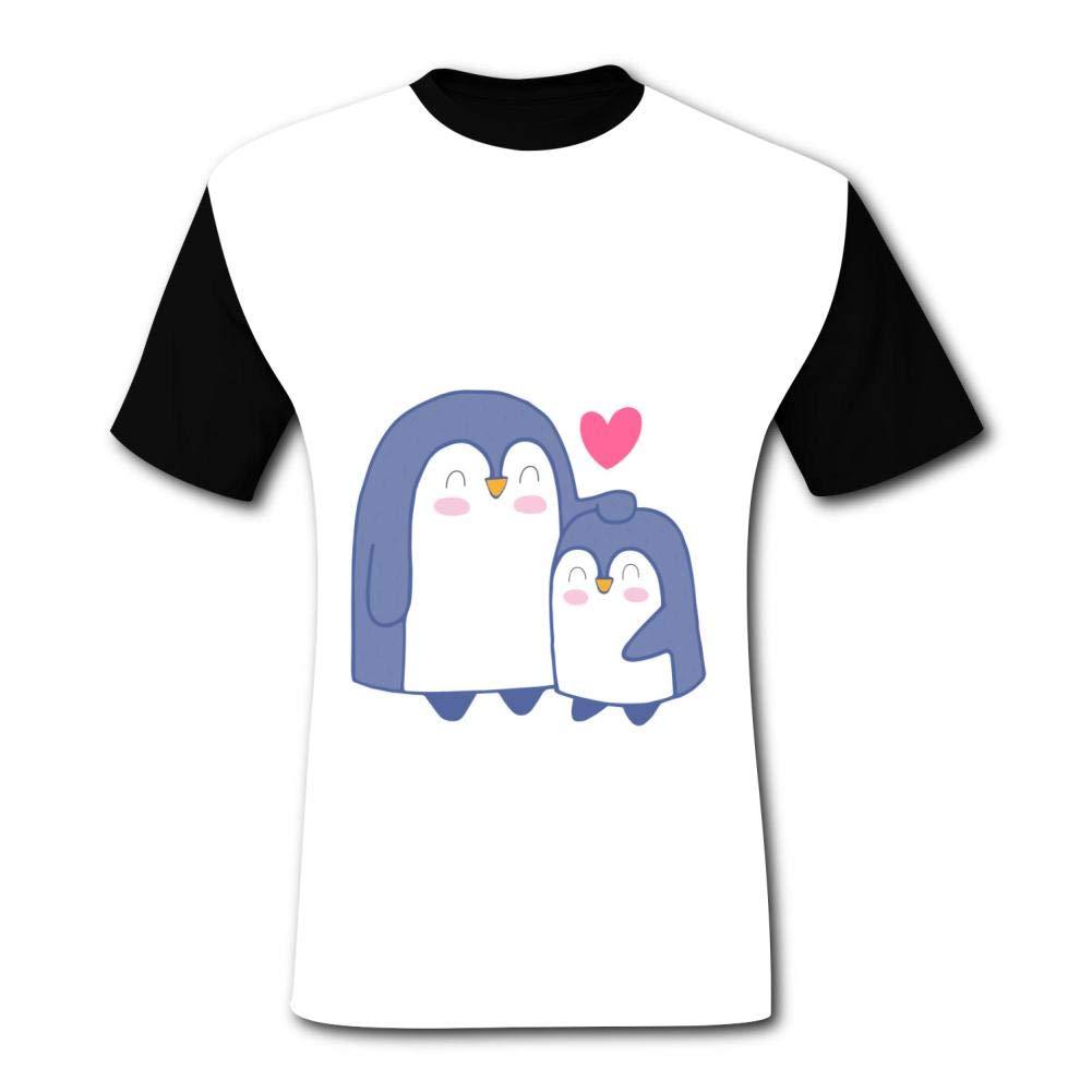 554ceb60d BOLIHENG Cartoon Cute Penguin Family Art Men's Short Sleeve Moisture  Absorbing Sports T-Shirt | Amazon.com