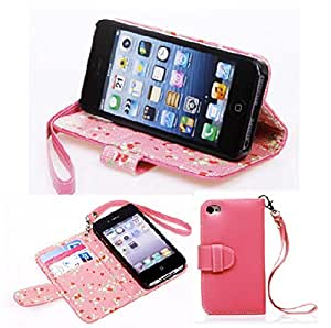 For iPhone 5 5S,iPhone 5S Case,Candywe Beautiful PU Flip Leather Case Cover With Stand For iPhone 5 5S 007