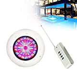 TBvechi 360leds IP68 LED Swimming Pool Light Underwater LED Color Pool Light RGB 36W AC 12V w/Remote for Ponds, Fountain,Pools Party
