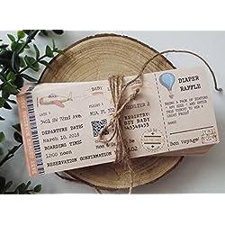 Baby Shower Ticket Invitation, Boarding Pass Ticket, Plane TicketPrintable Invitation, Digital Download, Diaper Raffle, Travel Invitation