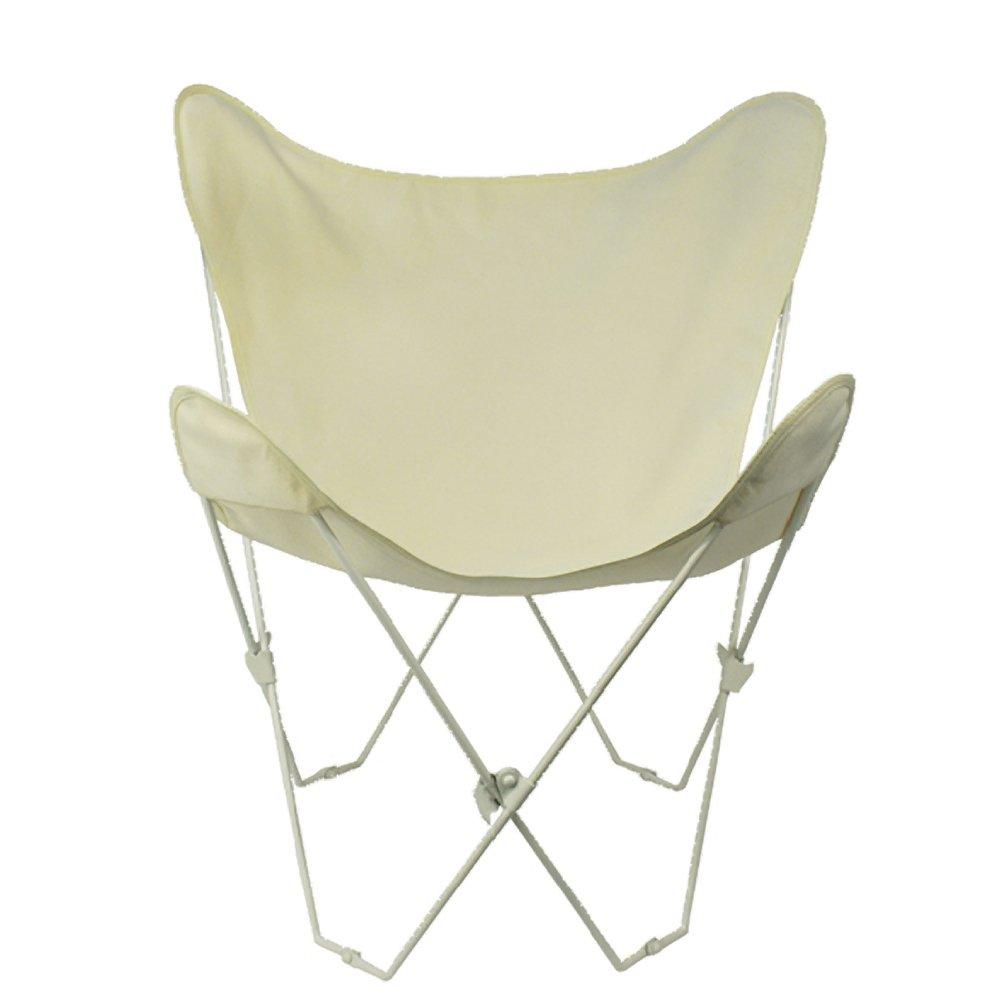 Amazon.com : Algoma 4052 00 Butterfly Chair White Frame, Natural : Printer  Developers : Garden U0026 Outdoor