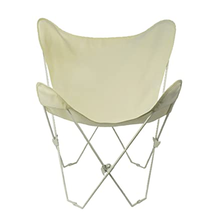 Beau Algoma 4052 00 Butterfly Chair White Frame, Natural