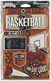 Real Sports Dimensional Stickers 4.5'X6' Sheet-Basketball
