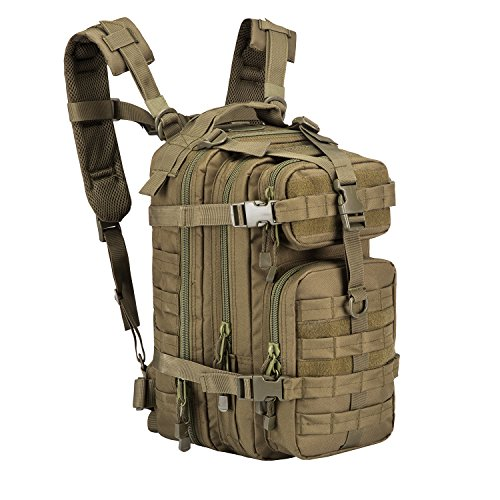 ARMYCAMOUSA Small Military Tactical Backpack, Army Molle Assault Rucksack Pack for Outdoors, Hiking, Camping, Trekking, Bug Out Bag & Travel ()
