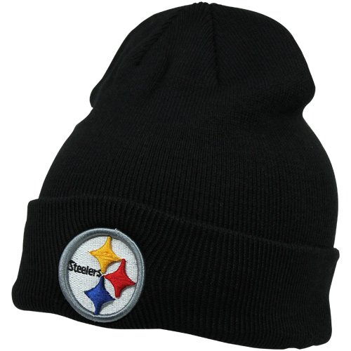 - NFL Pittsburgh Steelers '47 Raised Cuff Knit Hat, Black, One Size