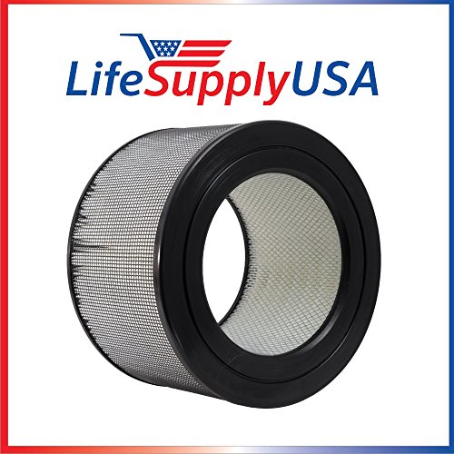 LifeSupplyUSA Filter fits Honeywell 22500 HEPA Enviracaire Air Purifier EV-25 62500 83236 83256
