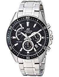 Casio Men's 'Edifice' Quartz Stainless Steel Casual Watch, Color Silver-Toned (Model: EFR-552D-1AVUDF)
