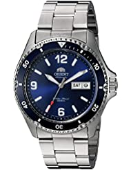 Orient Mens Mako II Japanese Automatic Stainless Steel Diving Watch, Color:Silver-Toned (Model: FAA02002D9)