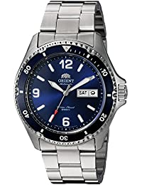 Mens Mako II Japanese Automatic Stainless Steel Diving Watch, Color:Silver-