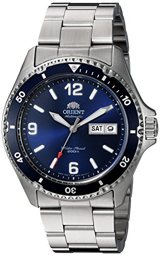 Orient Men's 'Mako II' Japanese Automatic Stainless Steel Diving Watch, Color:Silver-Toned (Model: FAA02002D9) by Orient