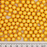 Natural 8mm Yellow Nuts Dairy Soy Gluten GMO Free shimmer Pearls Bulk Pack