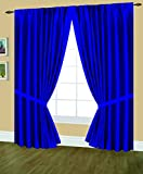 Cheap Editex Home Textiles Elaine Lined Pinch Pleated Window Curtain, 48 by 63-Inch, Navy