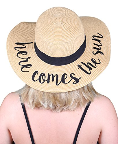 H-2017-HCTS Embroidered Sun Hat - Here Comes The Sun