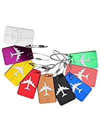Luggage Travel Tags, Emango 9 Packs Luggage Bag Suitcase Tag Labels (9 colors)
