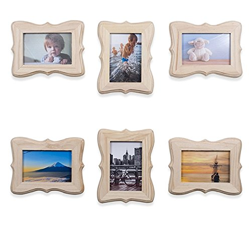 Diy Photo Frame (Wallniture Victorian Picture Frames DIY Projects Crafting Unfinished Wood for 4x6 Photos Set of 6)